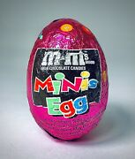 Rare Vintage 2001 Hershey M And Mandrsquos Minis Egg Chocolate Candy Sealed Container