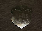 Vintage Fireman 2 1/2 Main Street Anne Fire Chief Metal Toy Pin Back Badge