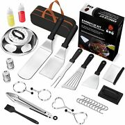 30 Pcs Griddle Accessories Set Grill Tool Kit Outdoor Bbq Barbecue Tool