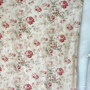 Romantic Faded Floral Print Fabric Antique Cotton Large Scale Roses 1900