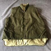 Sears Vintage Workand039n Leisure Down And Feather Reversible Down Vest Mens M