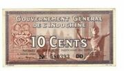 1940 French Indo China Banknote P85d 10 Cents Mayet And Cousin