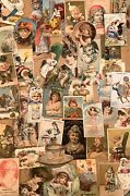 Victorian Trade Cards Diecut Paper Advertising Collection 40+ Lot