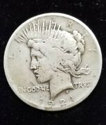 1921 Peace Dollar Key Date First Year Issue Vg