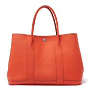 Hermes Garden Party Pm Rose Jaipur Silver Fittings Tote Bag Women And039s