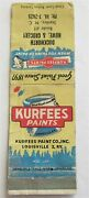 Kurfees Paints Louisville Ky Dukworth Howe And Groc Stanley Nc Matchbook Cover