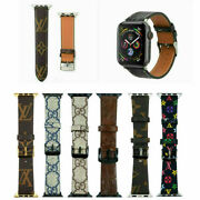 42/44mm Luxury Leather Strap Iwatch Band For Apple Watch Series Se/6/5/4/3/2/1