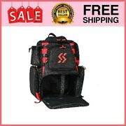 Fishing Tackle Backpack Waterproof Tackle Bag Storage Black - Without Trays