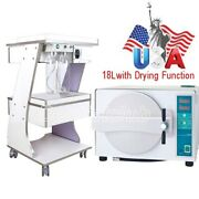 18l Autoclave Medical Automatical Steam Sterilizer /mobile Trolley Tool Cart