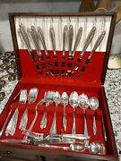 Prelude Sterling Silver Flatware 67 Pc Set Of 12