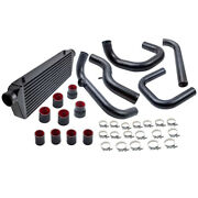 2.5 In/outlet Intercooler And Aluminum Pipe Tube Kit For Acura Integra 1994-2001