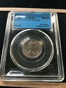 1954 Sf Cccs Graded Canadian Andcent5 Cent Ms-64 Missing Chrome