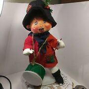 Vintage Annalee Christmas Drummer Boy 13 Tall Smiling Face. With Tag