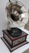 Hmv Gramophone Fully Working Antique Design Phonograph Win-up Record Player Vi
