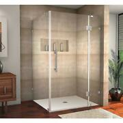 Shower Enclosure 48 In. X 3/8 In. Pivot Door Bar Handle Stainless Steel Clear