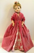 Vintage Madame Alexander Cissy Doll Pink Rose Tagged Dress And Shall, Ring, Etc