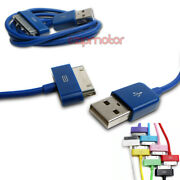 20x 10ft 30pin Usb Sync Data Charger Blue Dock Cable Iphone 4s Ipod Touch Ipad