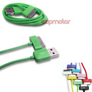 20x 10ft 30pin Usb Sync Data Charger Green Dock Cable Iphone 4s Ipod Touch Ipad