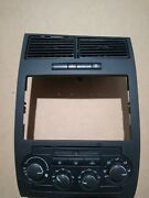 2008-10 Dodge Charger Srt Radio Stereo Bezel W/ Climate Control Looks Great Blk