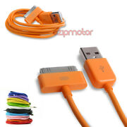 20x 10ft 30pin Usb Sync Data Charger Orange Dock Cable Iphone 4s Ipod Touch Ipad