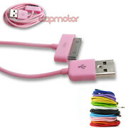 20x 10ft 30pin Usb Sync Data Charger Pink Dock Cable Iphone 4s Ipod Touch Ipad