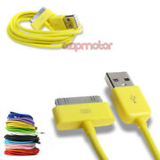 20x 10ft 30pin Usb Sync Data Charger Yellow Dock Cable Iphone 4s Ipod Touch Ipad