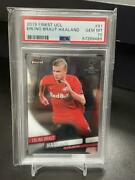 2019-20 Topps Finest Uefa Champions League Erling Haaland 91 Rc Rookie Psa10