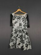 Atmosphere Womenand039s White And Black Printed Flare Dress Size Uk 14