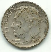 A Vf/xf Condition 1955 S Roosevelt Silver Dime-old Us Coin-mar392