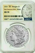 2021-s Morgan Silver Dollar - Ngc Ms70 First Release Confirmed Order Pre-sale