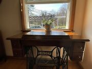 Antique Singer Sewing Machine Cabinet Entryway Table And Statement Piece