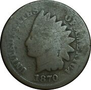 1870 Indian Head Penny Good Condition All Original