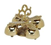 Sanctuary Altar Bells Four Bells Brass With Handle 7 1/4w X 4 1/2h