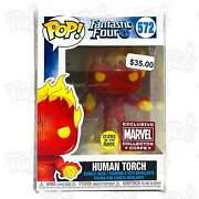 Fantastic Four Human Torch 572 Marvel Collector Corps Gitd