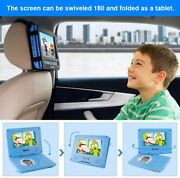 7 Portable Dvd Player W/headphones Kit Case Swivel Screen Car Charger Remote Us