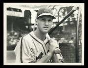 Stan Musial 1948 With Bat Cardinals Type 1 Original Photo Crystal Clear