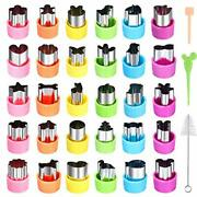 30pcs Vegetable Cutter Shapes Set, Mini Pie, Fruit And Cookie Stamps Mold, Cooki