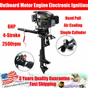 6hp 4-stroke Outboard Motor Electronic Ignition Boat Engine Air Cooling System