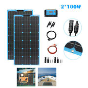 New 200w Flexible Solar Panel Home Kit For Outdoor Rv Car Boat Camping Pv System