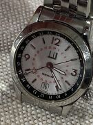 Dunhill Cityscape Traveler Gmt 8024 White Stainless Compressor 39mm Automatic
