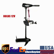 80lbs 12v Electric Outboard Engine Parts Motor Fishing Boat Enigne Motor 800w Us