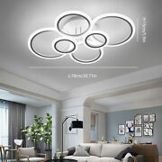 Modern Led Acrylic Ceiling Light Stepless Dimming Chandeliers Lamp W/remote Usa