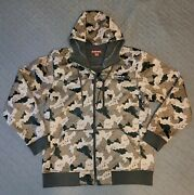 Simms Rogue Hooded Fishing Jacket Camo Menand039s Large Zip Up Wind Water Resistant