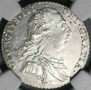 1787 Ngc Ms 62 George Iii Shilling Great Britain Hearts Silver Coin 21092702c