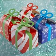 24 Assorted 3d Christmas Gift Boxes Holiday Goodie Paper Boxes Xmas Treats Party