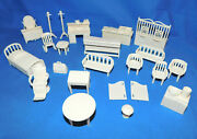 Marx Reissue Antique Western Town Furniture Playset Accessories In Light Tan