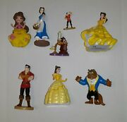 Beauty And The Beast Figures Figurines Disney Pvc Lumiere Cake Toppers Lot Of 8