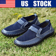 Men Casual Shoes Comfort Breathable Hollow Slip On Driving Loafers Plus Size