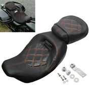 Two-up Low-profile Driver Passenger Seat For Harley Touring Cvo Road Glide 09-20