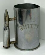 1972 Us Army Large Trench Art Artillery Beer Stein